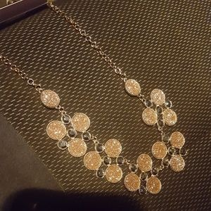 Jewelry - Rose gold statement necklace and earring set